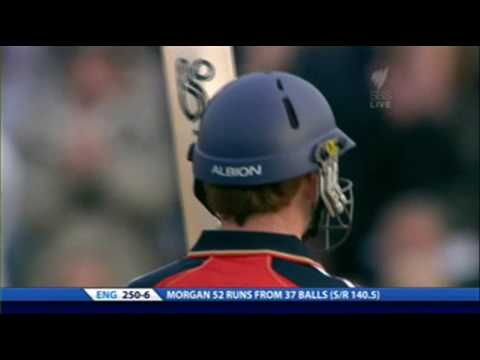 Eoin Morgan 6 hit at Trent Bridge