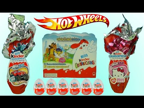 Видео: Киндер сюрприз Макси машинки Хот Вилс Хелло Китти Hot Wheels Hello Kitty 2008 2011