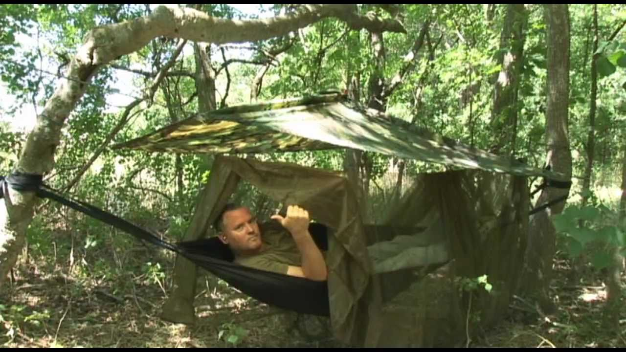 USMC Recon Jungle Shelter with Hammock  YouTube