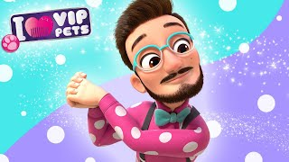 FABIO  VIP PETS  NEW HAIR, LET'S DARE!  CARTOONS and VIDEOS for KIDS in ENGLISH