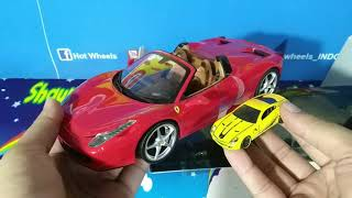 Unboxing & Review Hot Wheels 1:18 Ferrari 458 spider