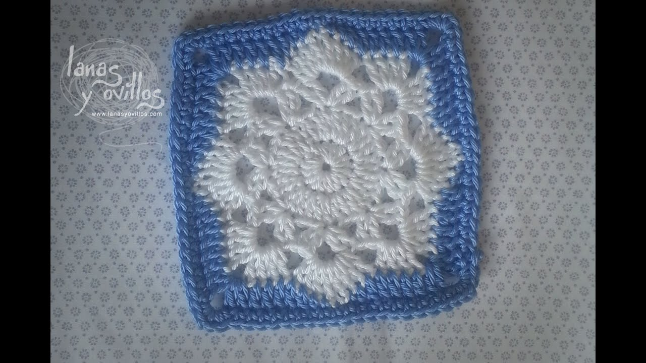 Tutorial Snowflake Granny Square - YouTube
