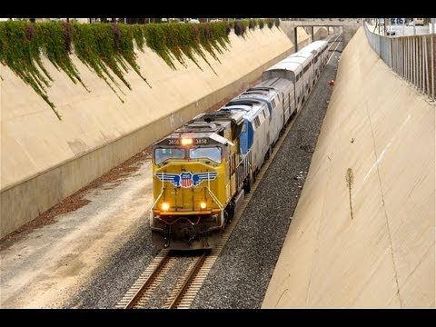 """Goodbye Amtrak """"Daylight"""" Sunset Limited Train #1 in Los Angeles"""
