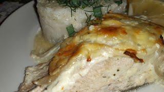 Сочная и нежная рыба в духовке Кета под сыром и луком Такой маринад подойдёт к любой рыбе