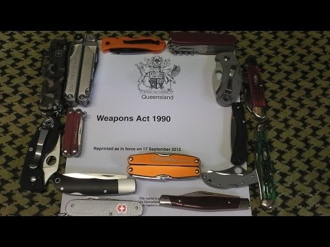 Knife Laws in Queensland Australia