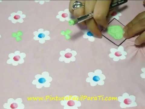 camisetas con flores pintura facil para tiwmv