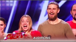 Verbo Shadow: Ukranian Light Dance Group Have The Judges In Tears! | America's Got Talent 2019