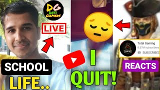 Desi Gamer talking about STUDENTS! Total Gaming REACTS on Small YouTubers! YouTuber in Depression? |