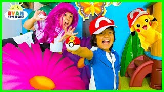 POKEMON GO In Real Life + Ryan vs Team Rocket!!!