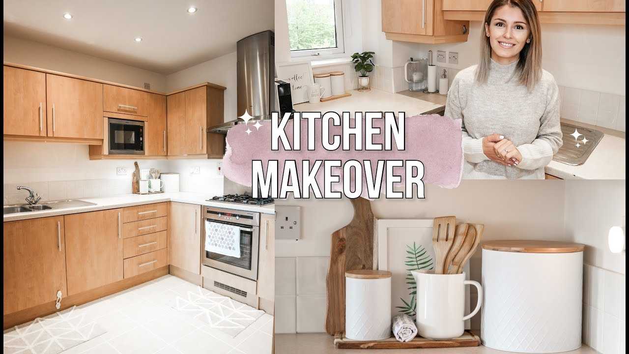 Rental Kitchen Makeover On A Budget Easy Ideas For A Minimalist Small Kitchen Youtube