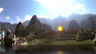 a glimpse of Machu Pichu