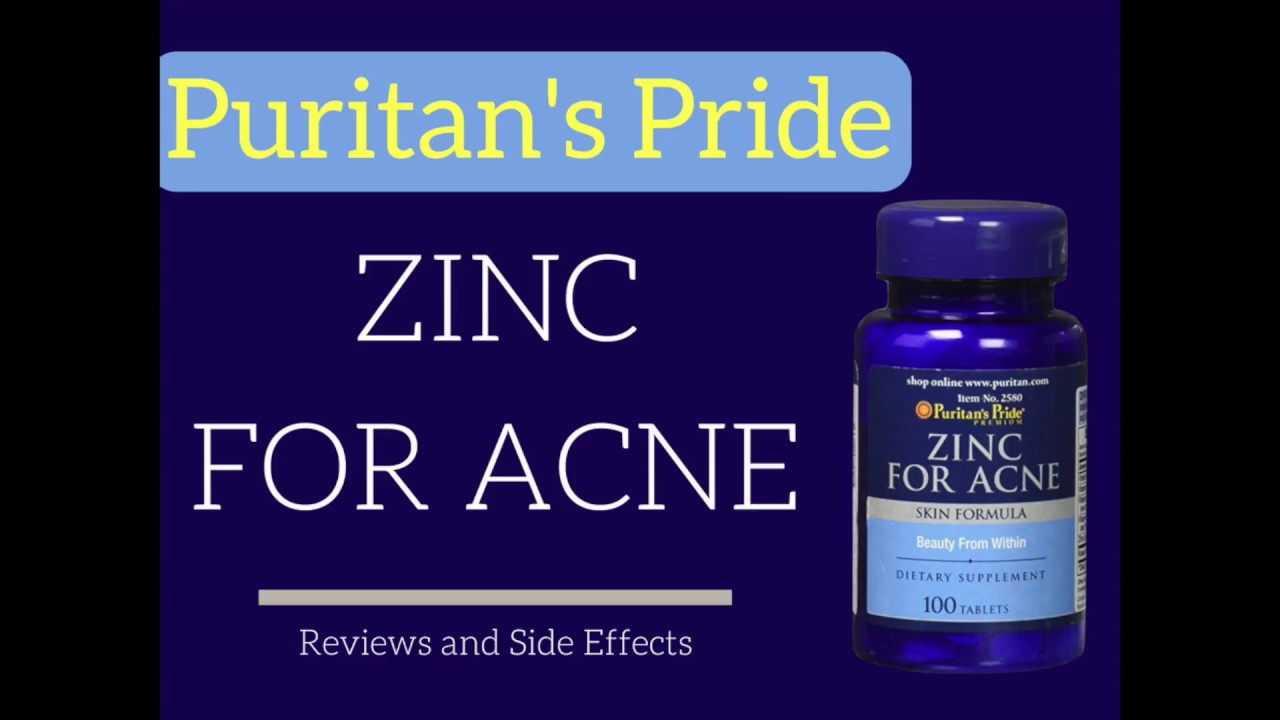 Puritan S Pride Zinc For Acne Review Are There Side Effects Youtube