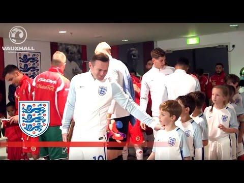 England 2-0 Malta (2018 WCQ) Tunnel Cam f/ Rooney, Sturridge, Alli | Inside Access