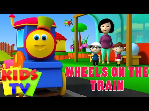 Bob The Train | Wheels on the train | Wheels on the bus | Kids Songs and Nursery Rhymes