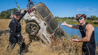 Download MOM's JEEP FOUND in River while Searching for Stolen Cars! Mp3 and Videos
