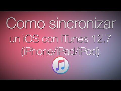 Como sincronizar un iOS con iTunes 12.7 (2017)