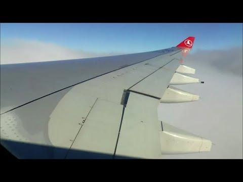 [HD] Turbulent flight from Istanbul to Zurich on board Turkish Airlines A330-200 - 11/10/2015