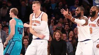 Kristaps Porzingis Clutch 3 and Layup at Buzzer! Knicks Comeback Win! 2017-18 Season