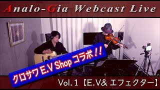 Analo-Gia Webcast Live Vol.1【E.V&エフェクター】