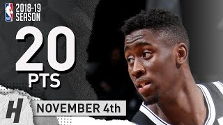 Caris LeVert Full Highlights Nets vs Sixers 2018.11.04 - 20 Pts, 2 Ast, 5 Rebounds!