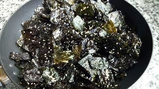 Khô Chay - Cách làm KHÔ RONG BIỂN/RONG BIỂN SẤY mặn ngọt ăn cơm trắng rất ngon