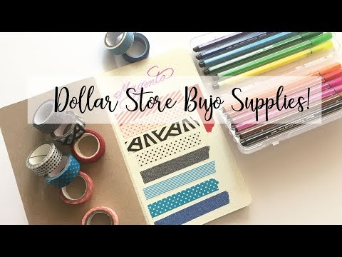 TESTING $ DOLLAR STORE $ BULLET JOURNALING SUPPLIES!