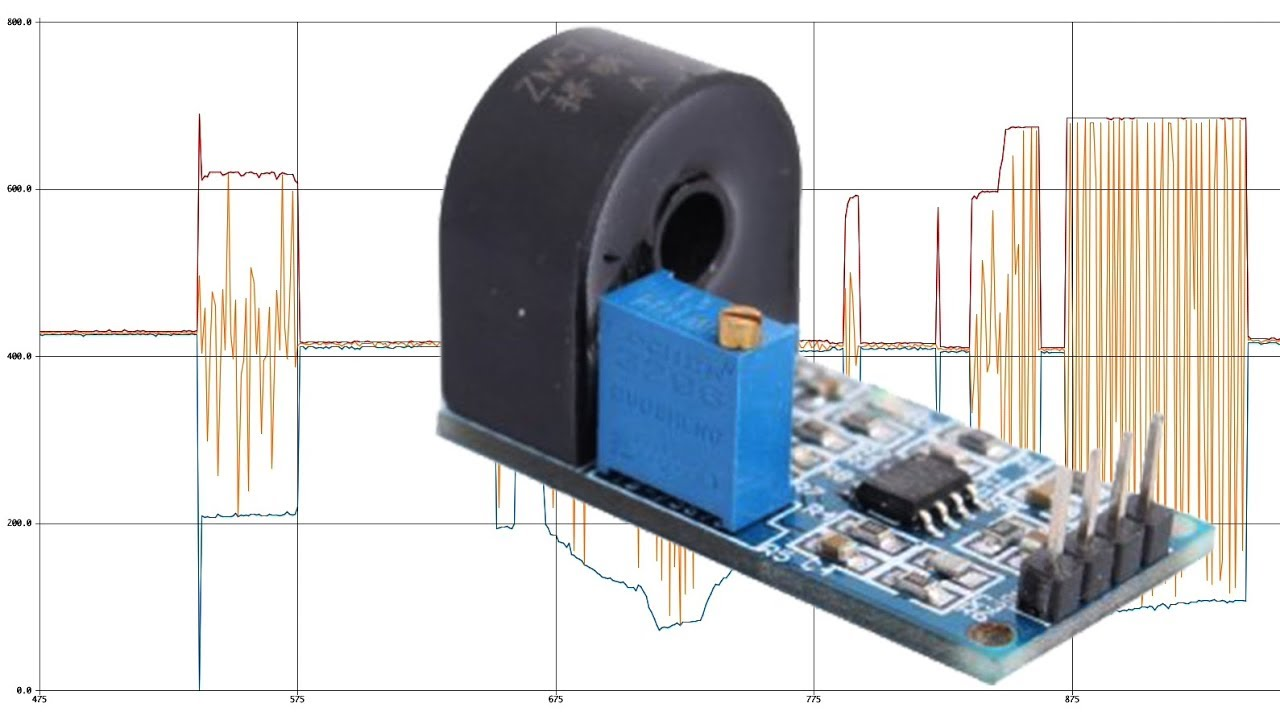 current sensing transformer/donut module - very simple arduino project