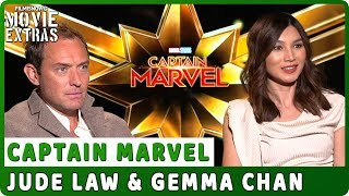 CAPTAIN MARVEL | Jude Law & Gemma Chan talk about the movie - Official Interview
