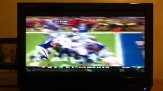 Brandon Spikes forces fumble Vincent Wilfork recovers