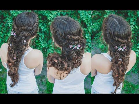 ПРИЧЕСКА. Как сделать греческую косу быстро, красиво и надежно)) LOZNITSA