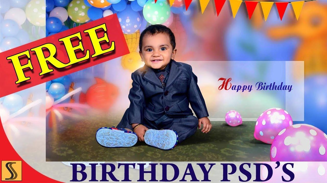 free psd birthday 12x36 templates fully