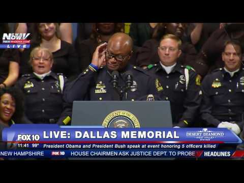 EMOTIONAL: Dallas Police Chief David Brown Speaks at Dallas Shooting Memorial -FNN