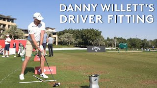 Danny Willett's full driver fitting with TopTracer