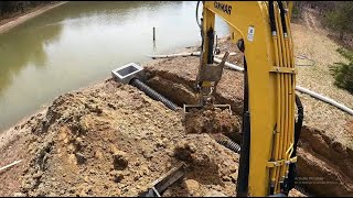 Installing A New Overflow On A Big Pond