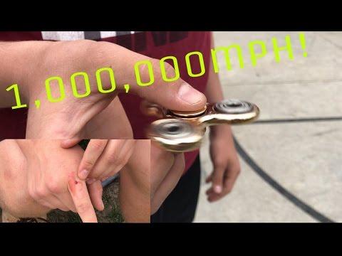 FIDGET SPINNER EXPLODES 1 000 000mph