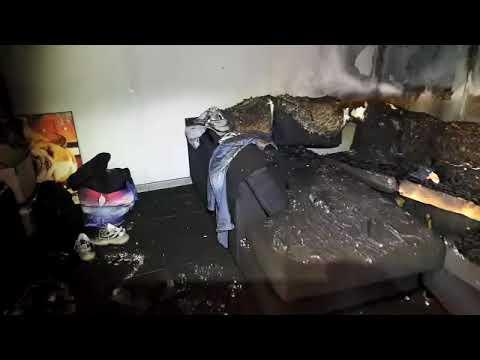 ההרס בבית ברחוב אורגוואי. צילום: דוברות כבאות והצלה לישראל- מחוז ירושלים