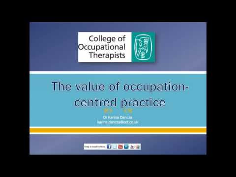 Dr Karina Dancza: The value of occupation centred practice