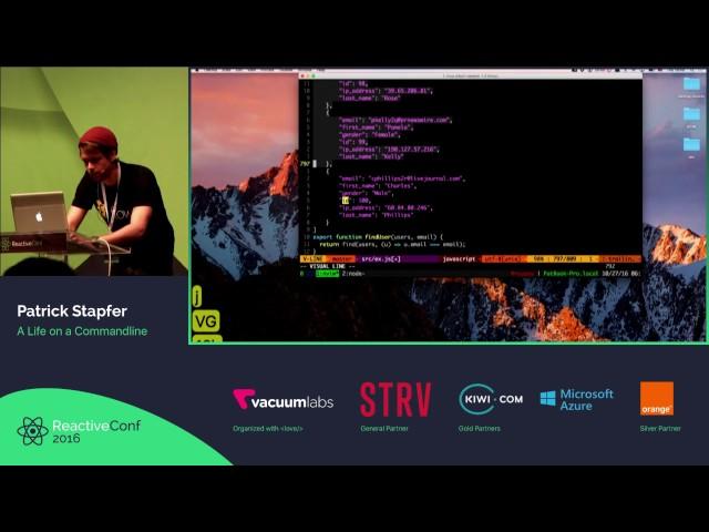 ReactiveConf 2016 LT - Patrick Stapfer: A Life on a Commandline