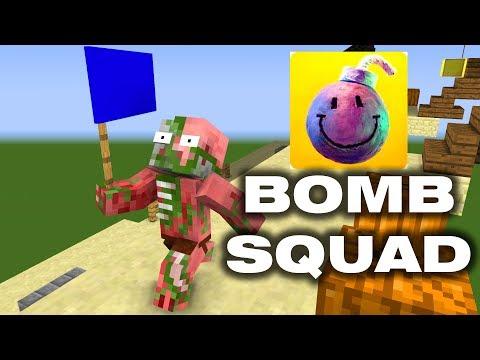 BOMB SQUAD CHALLENGE - MINECRAFT ANIMATION