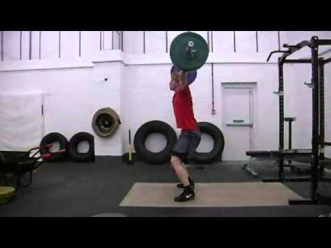 Slow Motion 80kg Hang Snatch - 240fps