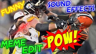 Browns Vs Steelers Fight With Funny Meme Sound Effects Youtube