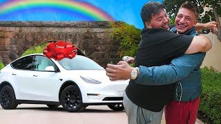 Surprising My Gay Assistant with a Tesla Model Y!