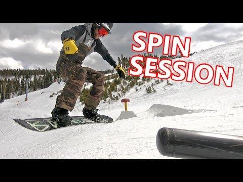 Spin Tricks Snowboarding Session At Keystone