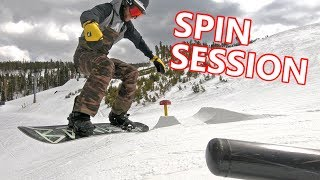 Spin Tricks Snowboarding Session at Keystone