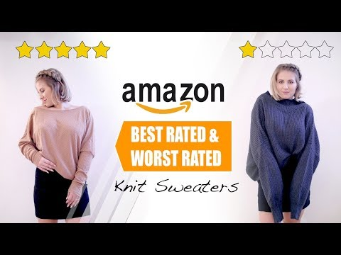 Amazon Knit Sweaters BEST & WORST RATED | Milabu