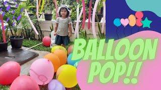Playing Balloons In The Garden   Balonku Ada Lima   Balloon Pop   Lagu Anak Populer   Balloon Song