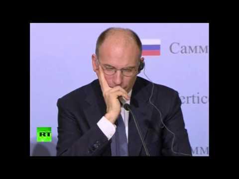 Пресс-конференция Владимира Путина и Энрико Летты
