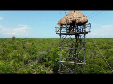 Zipline Mexico Mayan Adventure Playa del Carmen Mexico May 2017 4K P2