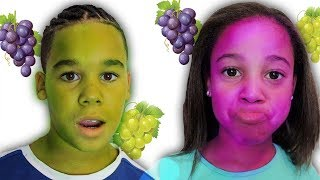 Download Magic Grapes Turn Our Faces Purple and Green | FamousTubeKIDS Mp3 and Videos