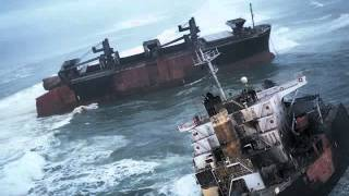 Ship In Rough Sea - Cargo Ship in Rough Seas